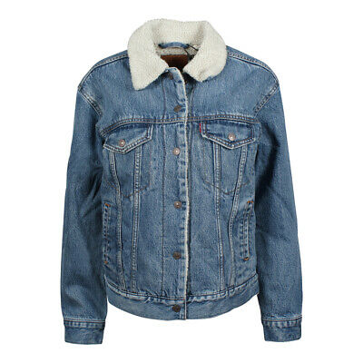 Levi s Donna Inverno Giacca in Jeans Ex-Bf Sherpa Trucker Addicted To Love 3594f7bec05