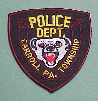 Carroll Township  Pennsylvania  Pa  Police Patch  Very Nice!!   Free Shipping!!!