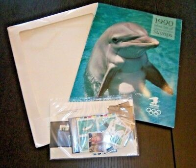 1990  Commemorative Stamp Issues - Year Set Of 37 Mnh In Sealed Packet W/ Album
