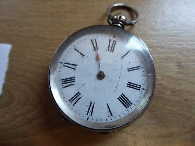 Quality Antique Solid Silver Fob /  Pocket Watch