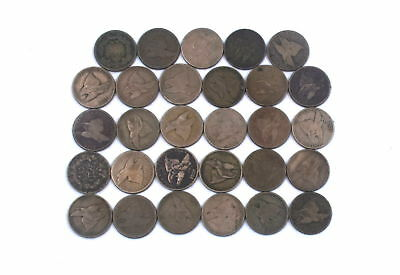 1857-1858 Flying Eagle Small Cent Penny Better Date 29 Coins Lot - Ag-Vf Details