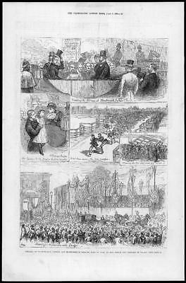 1880 Antique Print - LIVERPOOL ELECTION Speakers Voters Candidate Ward Meet (99)