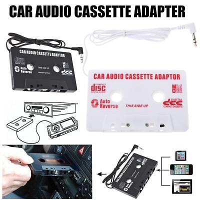 Car Audio Deck Cassette Player Tape Adapter 3.5mm Aux Cable Cord MP3 IPod/CD