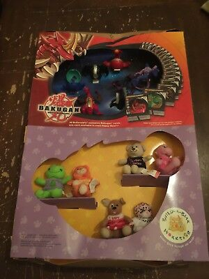 2009 McDonald's Bakugan Battle Brawlers and Build A Bear Happy Meal Display