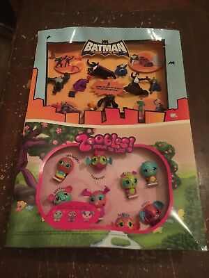 2011 McDonald's Batman The Brave And The Bold and Zoobles Happy Meal Display