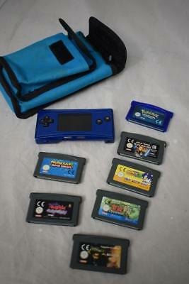 Nintendo Gameboy Micro and 7 games