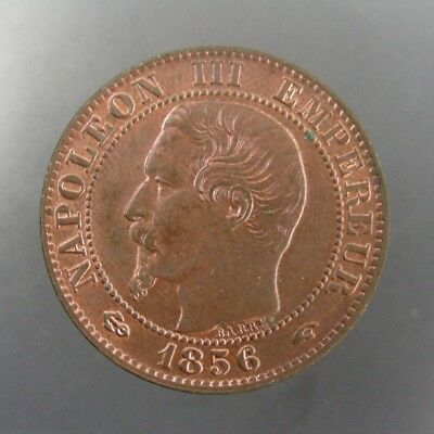 France 1856A 5 Centimes Red and Brown