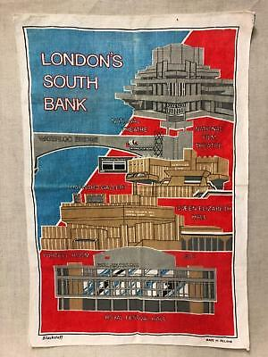 London Southbank Brutalist Architectural FOB Tea Towel - MidCentury Modern