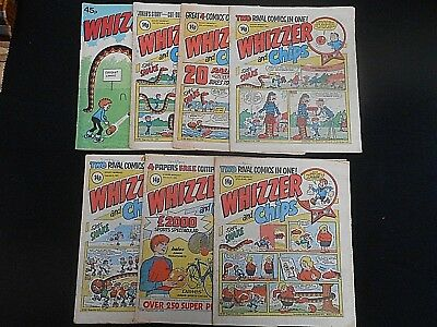 7 x 1981 Vintage * WHIZZER & CHIPS * Comics (Free UK P & P) inc.Summer Special