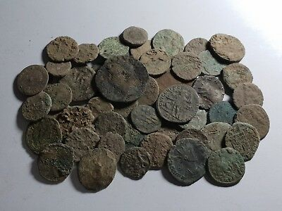 BEAUTIFUL LOT OF x50 ROMAN ANCIENTS COINS - UNCLEANED