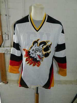 Bakka Connecticut Wolves Ice Hockey Jersey Whitie Bensen Athletic Equipment -YXL