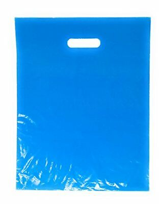 """100 Pack 12"""" x 15"""" with 1.25 mil Thick Blue Merchandise Plastic Glossy Retail 