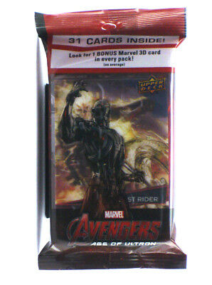 2015 Upper Deck Avengers Age Of Ultron 31-Card Jumbo Pack 3D Insert Ghost Rider