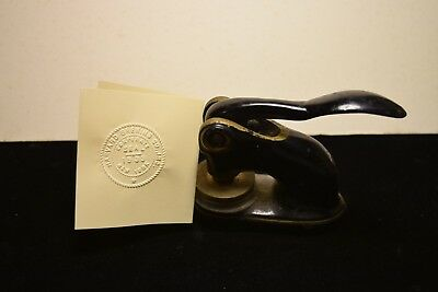 Antique 1933 Notary Stamp Hampden Brewing Company  A Rare Find