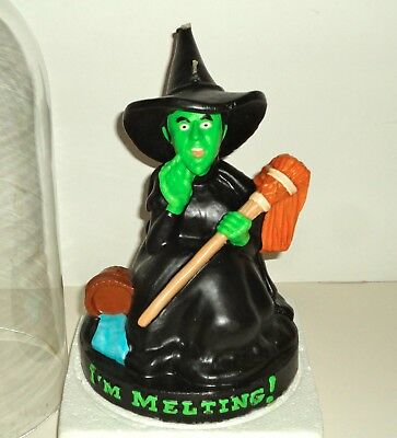 """Wizard of Oz Wicked Witch """"I'M MELTING"""" Candle ~ 1997 Warner Brothers Exclusive"""