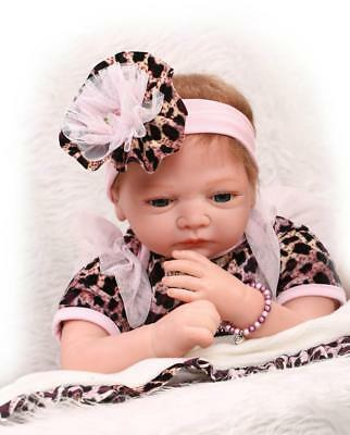 Girl Baby Silicone Doll 22