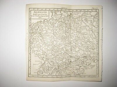 Early Vintage Antique 1750 Germany In Circles Berlin Vaugondy Copperplate Map Nr