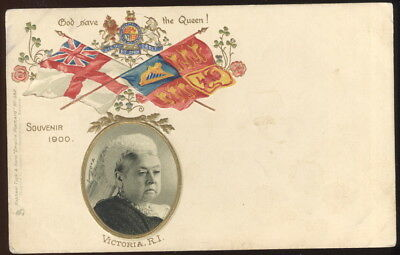 "1900 Souvenir Tuck Empire Post Card #382,""god Save The Queen"" Queen Victoria"