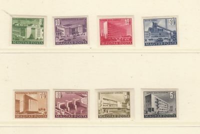 oldhal-Hungary- Good Imperf Buildings Set from 1952  Mint