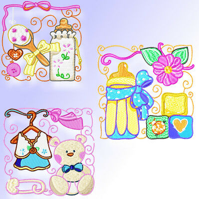 Its A Girl 12 Machine Embroidery Block  Designs Cd 2 Sizes