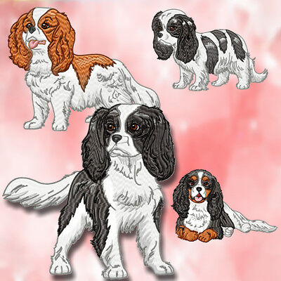 Realistic King Charles Cavalier 10  Machine Embroidery Designs Cd 4 Sizes