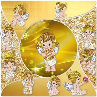 Baby Angels 2 10 Machine Embroidery Designs Cd 2 Sizes