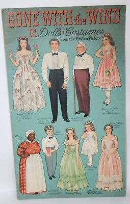 VTG Merrill Publishing Company GONE WITH THE WIND Paper Dolls Book 3404 UNCUT!