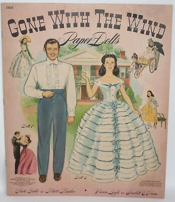 VTG Merrill Publishing Company GONE WITH THE WIND Paper Dolls Book 3405 UNCUT!