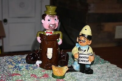 vintage BAR Kitchen statues figures decanters chicken bum cheese grater LOT