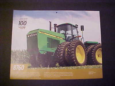 "1988,1989,1990,1991,1992 John Deere ""Model 8760"" NOS calendar photo EZ frame"