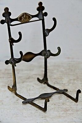 Very Old Antique Coopers Travelling Folding Brush Or Pen Rack - Extremely Rare