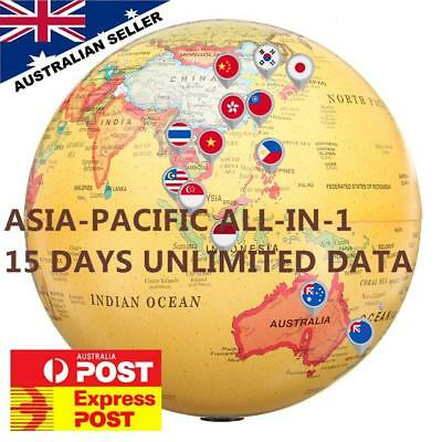 15 Days Asia-Pacific 16 Countries SIM Card | Unlimited data | $2.3 a day!
