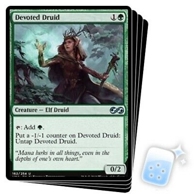 DEVOTED DRUID X4 Ultimate Masters Magic MTG MINT CARD