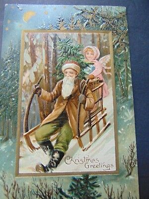 LOT of 12 ANTIQUE SANTA CLAUS CHRISTMAS & other HOLIDAY CARDS