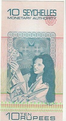 Seychelles 10 Rupees 1979 Issue Pick: 23a in UNC