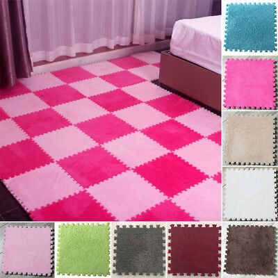 9 Colors Foam EVA Floor Puzzle Interlocking Baby Toddler Play Mat Plush Carpet