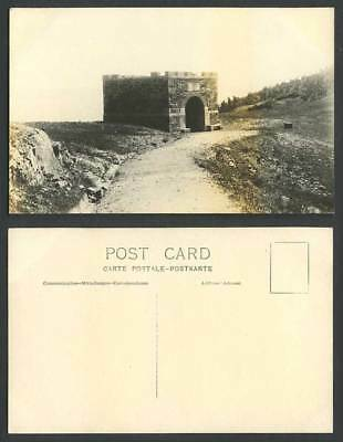 China Old Real Photo Postcard Wei Hai Wei Tower Gate Fortress Hill Weihaiwei Is.