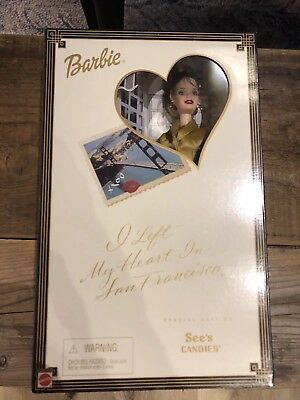 Special Edition See's Candies Barbie: I Left My Heart In San Francisco NRFB