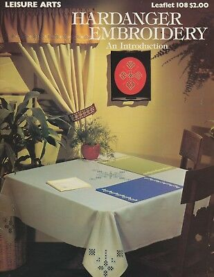 "Hardanger Embroidery an Introduction by Marion Scoular, 1979 8.75x11.75"", 14pp"