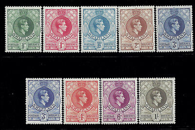 Swaziland Stamps 1938 1/2d-1sh KGVI Perf 13 1/2 by 13 M £109.75/$148