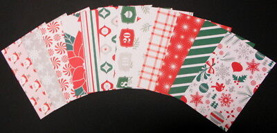 HOLLYDAY x 12 - Christmas Scrapbooking/Cardsmaking Papers - 15cm x 10cm  (6 X 4)