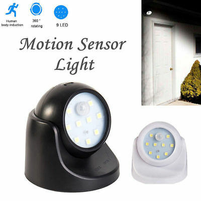 Motion Sensor Security Led Light Battery Operated Indoor Outdoor Garden 360°