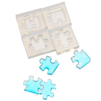 HOT 3D Puzzle DIY Silicone Mold Resin Pendant Bead Jewelry Tool Art Craft Little