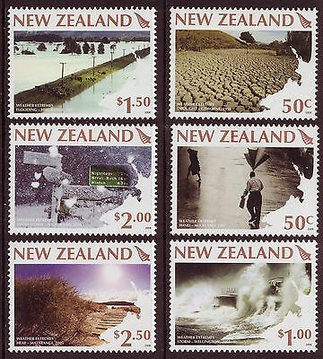 New Zealand 2008 Weather Extremes Set Of 6 Unmounted Mint