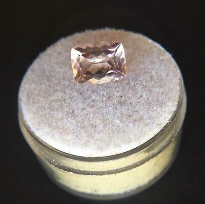 NATURAL Morganite 2.94ct Peach Pink Beryl Antique Cushion Cut Rare 10x8mm Gem
