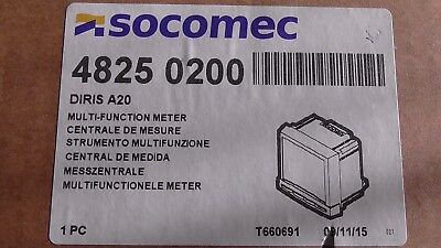 CENTRALE de MESURE SOCOMEC DIRIS A20 , 4825 0200 MULTI-FUNCTION METER , POWER