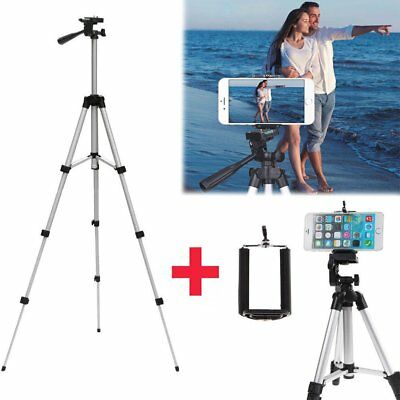 Professional Portable Adjustable Camera Tripod Stand Cell Phone Mount Holder ZH