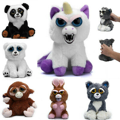 Feisty Change Face Plush Toys Roaring Angry Stuffed Animal Doll Children Gift