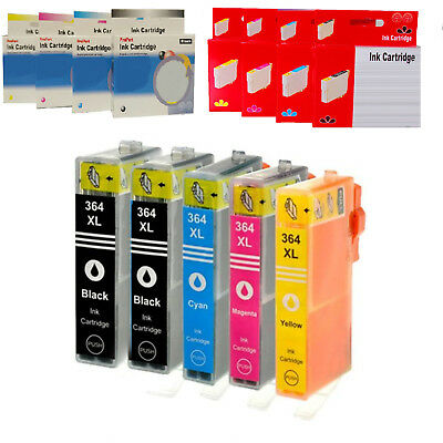 kit 5 10 15 20 30 CARTUCCE COMPATIBILI NO ORIGINALE PER HP 364XL BK C M Y