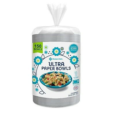 Member's Mark Ultra Paper Bowls (20 oz.,150 ct.).